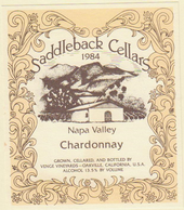 1984 Chardonnay Napa Valley label